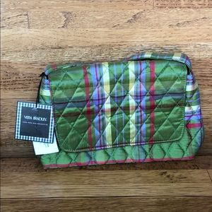Vera Bradley Silk Collection Green Plaid Purse